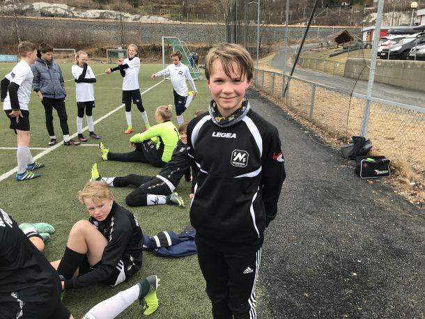 Lukas Kristiansen skåret to flotte mål i kampen mot Konnerud.
